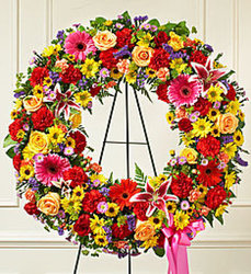 Bright Serene Blessings Wreath from Wyoming Florist in Cincinnati, OH
