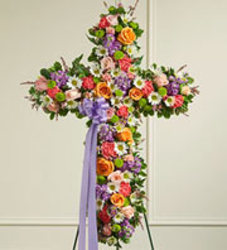 Pastel Cross Tribute from Wyoming Florist in Cincinnati, OH